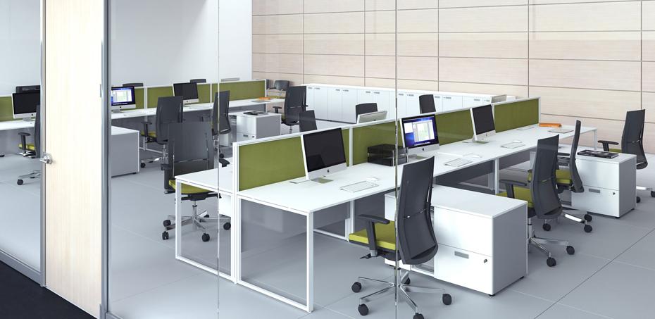Biurko szklane 5th element przez las mobili projektant si design - Las mobili per ufficio ...